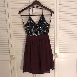 Open back homecoming dress